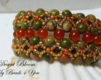 Beadwoven Bracelet,Beaded Bracelet,Seed Bead Bracelet,Beaded Cuff, Beaded Jewelry, Embellished Bracelet, Beadwork Bracelet, Jewelry Gift