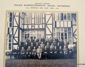 Police Superintendants Social Gathering Midland Counties Bewdley 1930 Mounted Photograph Vintage Photograph Antique Photograph