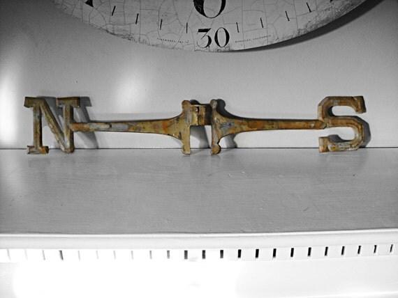 1800 39 S Weather Vane North South Piece Of Weather Vane