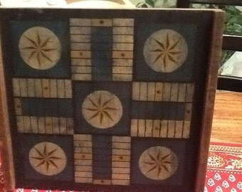 Primitive distressed Hand Made Game Board