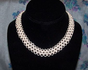 Japanese Lace Collar Necklace - Chainmaille