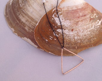 rose gold peak necklace