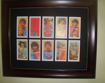 BEATLES - SGT PEPPER - Miniature pictures in a frame