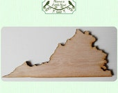 Virginia State (Large) Wood Cut Out - Laser Cut