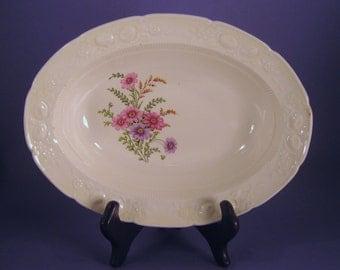 Transfer Ware Serving Bowl, Homer Laughlin, Purple Marigold, RV 1048, Vintage Diner Dish