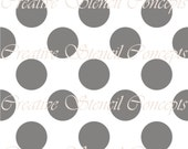 Plain Polka Dots Seamless Decorative Stencil MULTIPLE SIZES AVAILABLE on Industry Standard 12 Mil Mylar Design 112511903