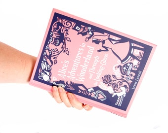 Book Clutch Purse- Alice's Adventures in Wonderland
