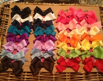 30 Classic Bows--Perfect for Pigtails--You CHOOSE colors--DISCOUNTED to only 1.50 a bow!