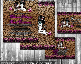 Day Of The Dead Wedding Invitation And RSVP Set Digital Wedding Suite Day  Of The Dead