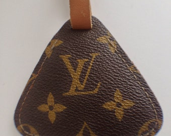 Vintage Authentic LV Luggage Name Tag