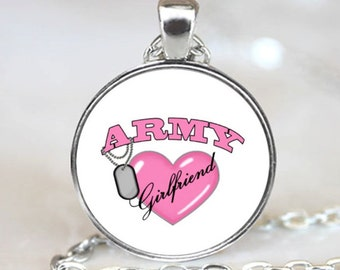 Army Girlfriend Handcrafted  Necklace Pendant (PD0013)