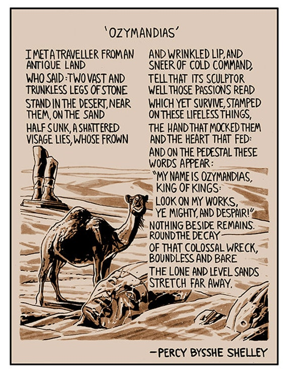 Illustrated poem: 'Ozymandias' by Percy Bysshe Shelley