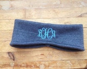 Fleece Ear Warmer Headbands MONOGRAM