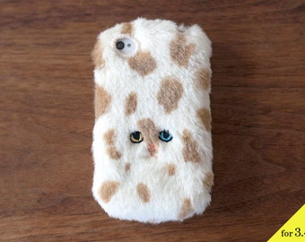 Dot Cat iPhone case for iPhone3 / 4 / 4s [soft type] Beige