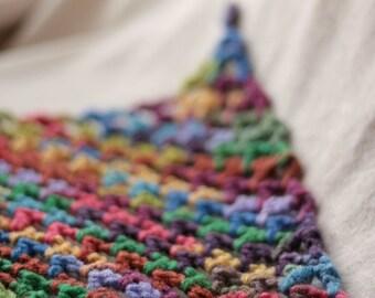 "Crochet Toy Hammock - Stuffed Animal Organizer - Mini ""Lovey Corral"" - in MEXICO MULTICOLOR - Quick Turnaround"