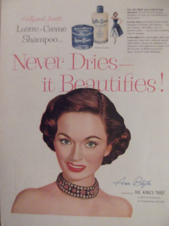 Ann blyth lustre creme shampoo original vintage advertisement for Lustre original