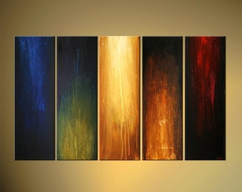 "Large Contemporary Abstract Painting, Modern Art on Canvas by Osnat - MADE-TO-ORDER - 60""x36"""