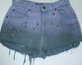 Violet and Black Ombre High Waisted Shorts