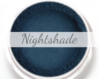"Eyeshadow Sample - ""Nightshade"" - Matte Dark Blue Vegan Mineral Eyeshadow Net Wt .4g Natural Eye Shadow Pigment"
