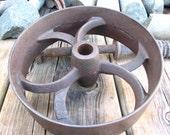 Cast iron cultivator wheel