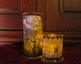 Green Harvest Candleholder set