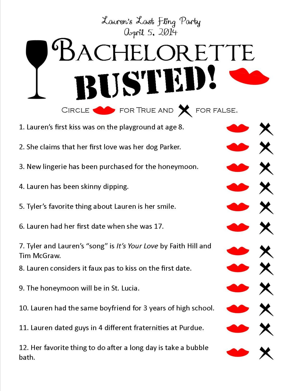Bachelorette Busted Unique Printable Bachelorette by ...