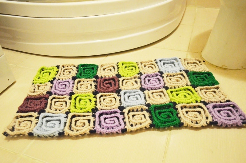 Rugdoormatpet matEntertaining Crochet Bath Mat Bathroom