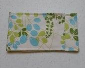 Diaper bag accessories Diaper Strap - green and blue leaf