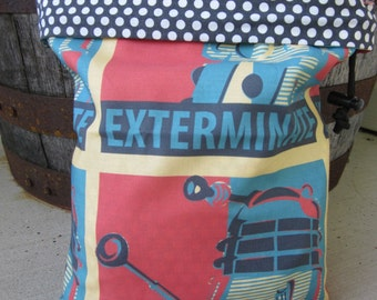 Exterminate! Dalek Knitting Project Bag - Phat Fiber