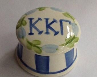 Kappa Kappa Gamma Round Ring Box