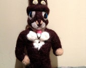 Needle Felted Steampunk Squirrel Doll Toy