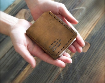 Walter Mitty Leather Wallet - The Secret Life of Walter Mitty Replica