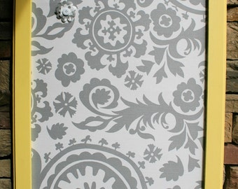 "18x22"" Yellow  Frame with Fabric Cork Board"