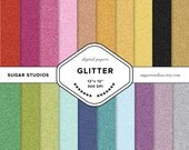 Glitter 20 Piece Digital Scrapbook Paper Mega Pack - Personal and Commercial Use