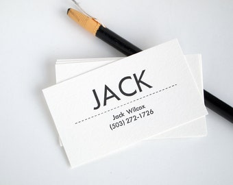 Mid-Century Modern Business Cards - Personalized Letterpress Calling Cards - Utility
