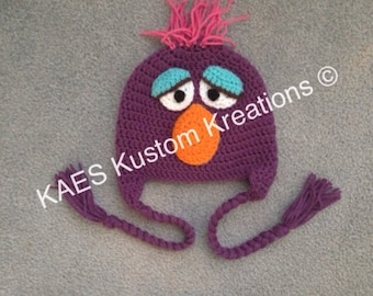 PDF PATTERN ONLY Sesame Street Telly Character Hat Pattern