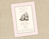 Little Owls shower invitation - Printable