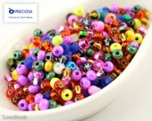 Czech Seed Beads size 6/0 (20g) Mixed Mix Colorful Bright Preciosa Ornela Rocailles NR 192 Opaque