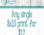 """Any Single 8x10"""" or 5x7"""" Wall Art Print by Decorable Designs"""