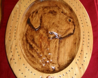 Dog Head Cribbage Board