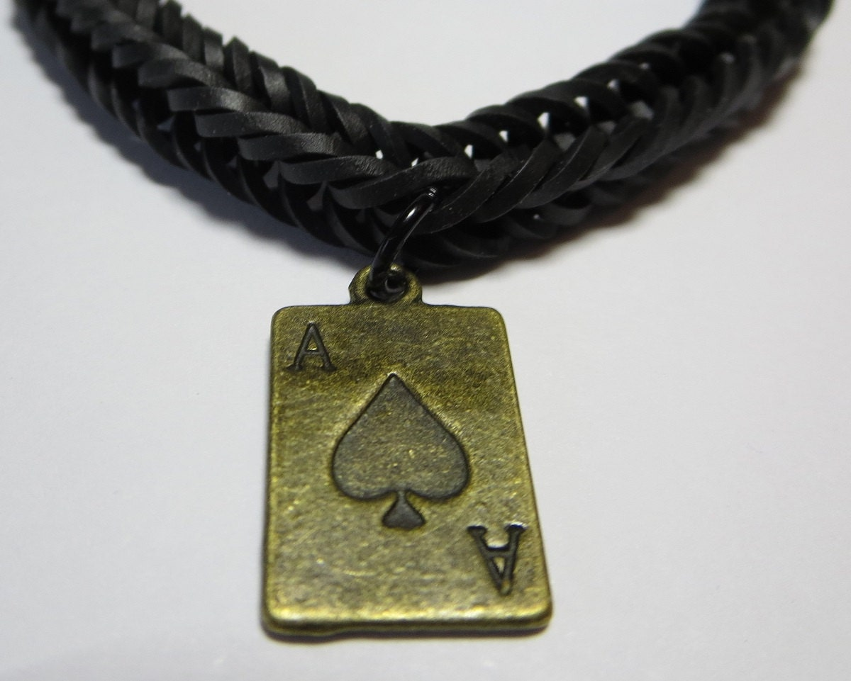 of spades jewelry black ace of spades loom band necklace 7939