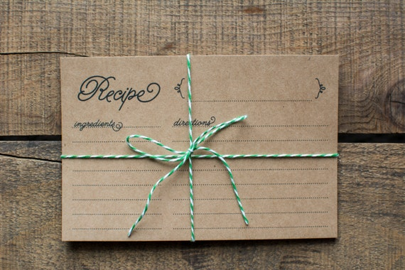 Reserved Listing (60 Recipe Cards)