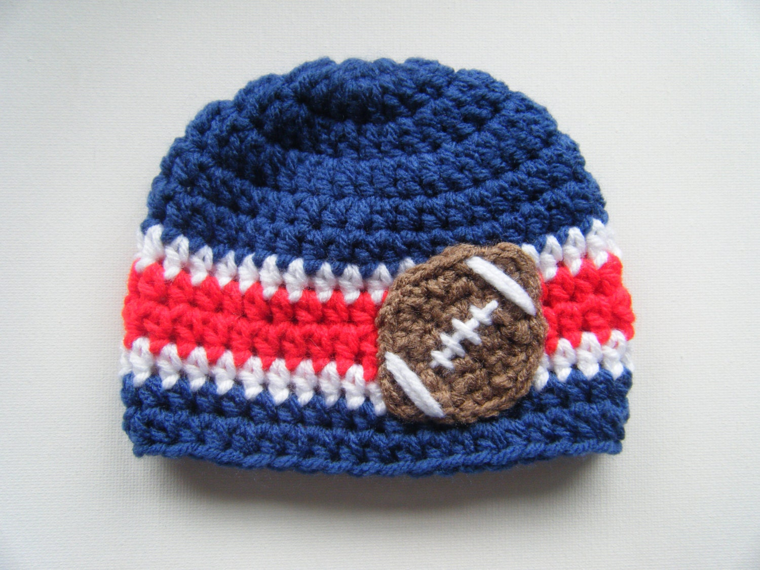 Pattern Football Beanie Sports Team College Nfl Colors
