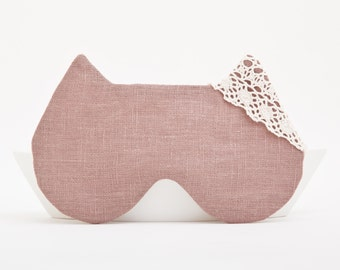 Flax Sleep Mask, Cat Mask. Many color variations