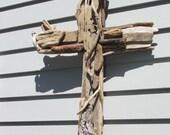 "Driftwood Cross 'Anew"""