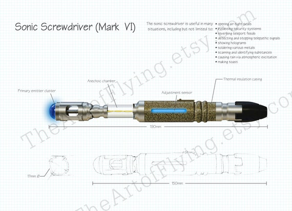 Doctor Who - Sonic Screwdriver Print