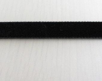Black Velvet Ribbon Choker, 9mm Black Velvet Choker Necklace, Plain Choker