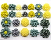 24 pcs Resin Flower Cabochons Assorted Sizes Sampler Pack - Main Street Chic