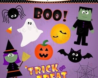 Halloween Clip Art- INSTANT DOWNLOAD