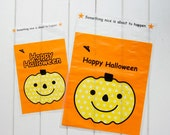 Korean Adhesive Sealable Gift Bag Set - Happy Halloween (Big)  x 10pcs